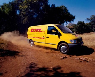 DHL van in action
