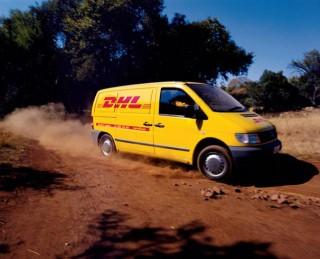 DHL van in action