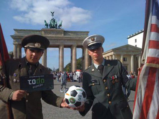 Soldiers with a prototype of The Ball