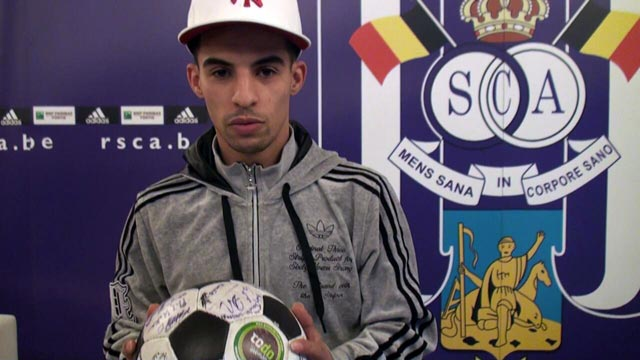 Anderlecht's Mbark Boussouf with The Ball