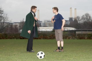 Christian and Phil squabble over who should kick off