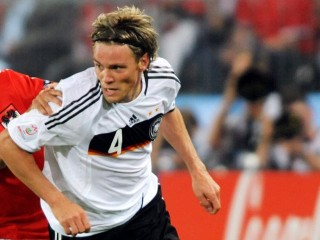 Clemens Fritz in action for Germany