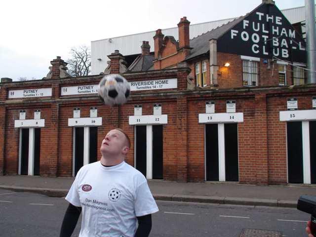 Dan Magness at Fulham's Craven Cottage