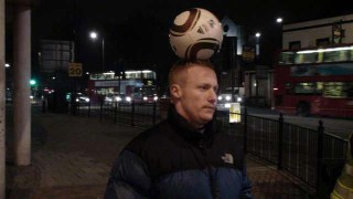 Dan Magness with the ball on his head