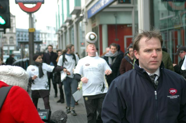 Dan Magness in a crowded street
