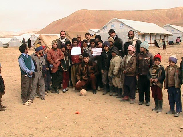 Group photo at the camp