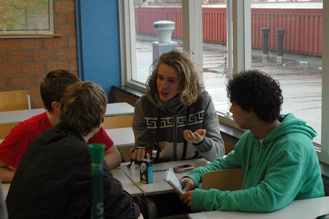 Students discuss the spirit of football