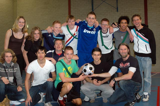 The team at the Da Vinci school in Leiden