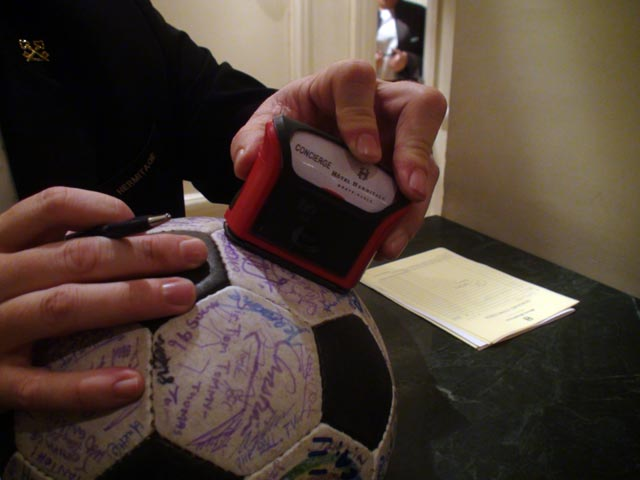 The Ball gets stamped at The Hermitage