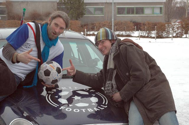Andrew and Sven with The Ball and The Golf Ball