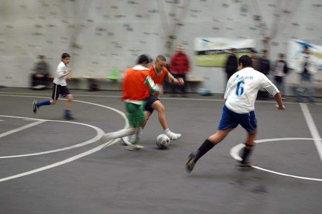 A boys game with The Ball