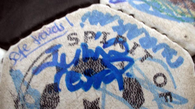 Julio Cesar's signature on The Ball