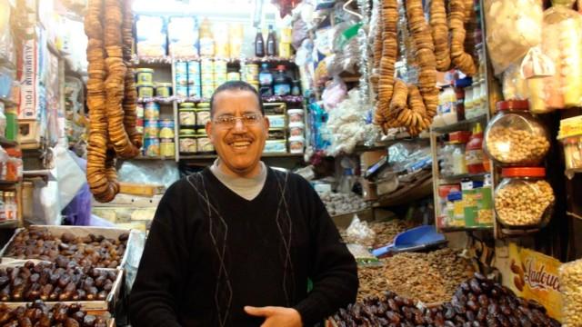 A shopkeeper in Fez