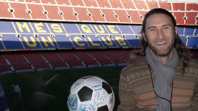 Andrew at the Camp Nou