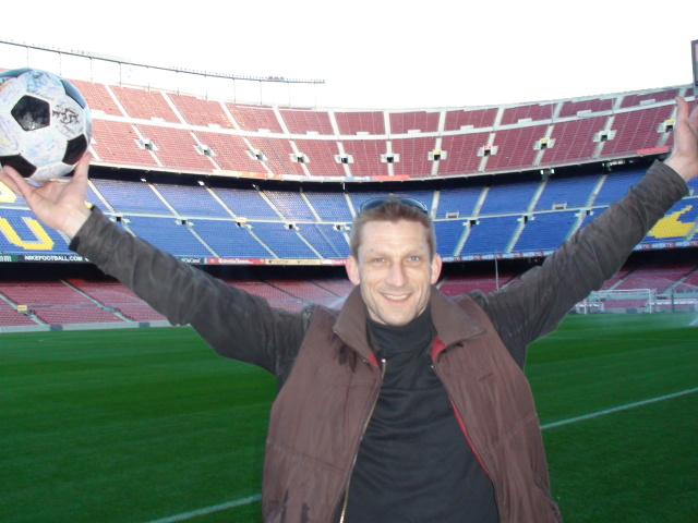 Christian at the Camp Nou