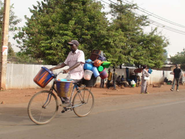 Bamako bike rider