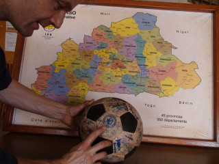 We plot our route on a map of Burkina Faso