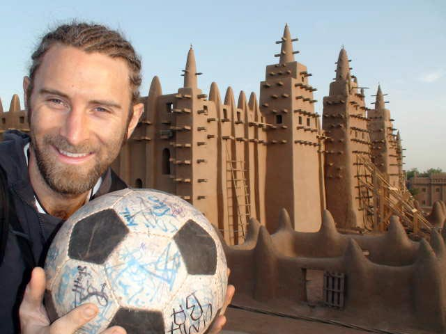 Andrew and The Ball in front of the Grand Mosquée