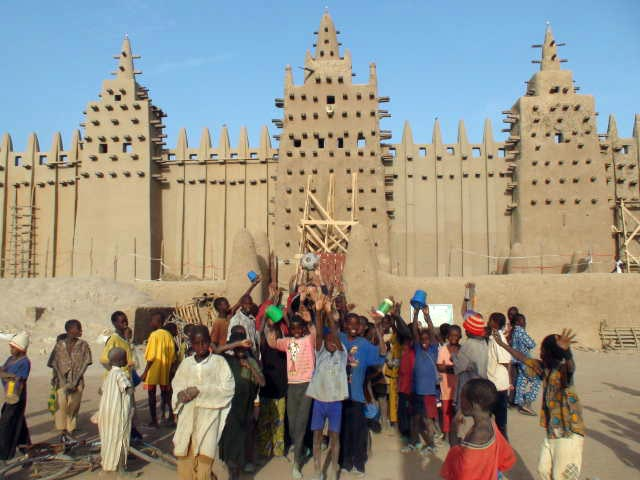 The Ball at the mud mosque in Djenne