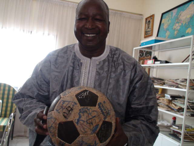 Salif Keita holds The Ball