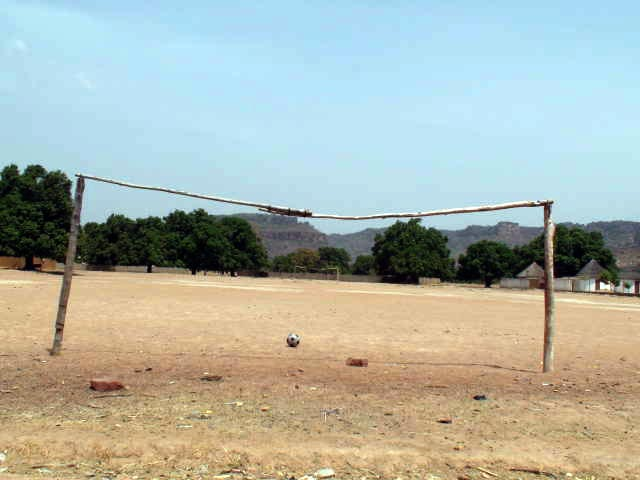 The football field in Siby, Mali