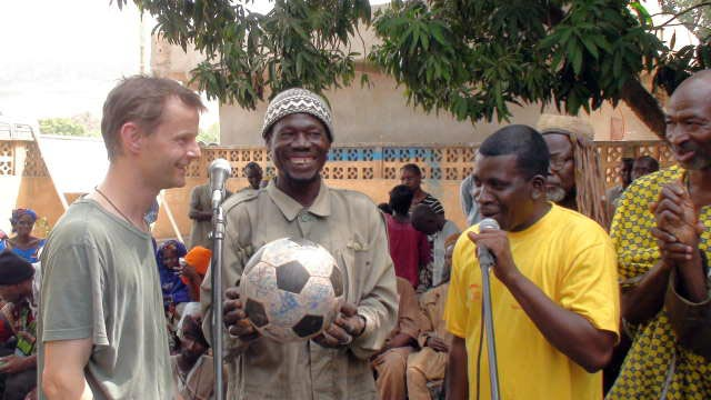 The Ball is presented to the village