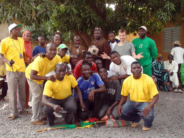 The team from Special Olympics Mali with some Siby locals