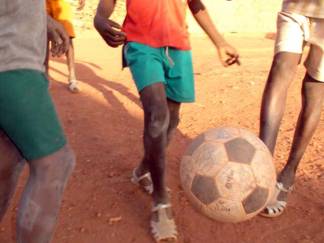 Dogon children get a kick out of The Ball
