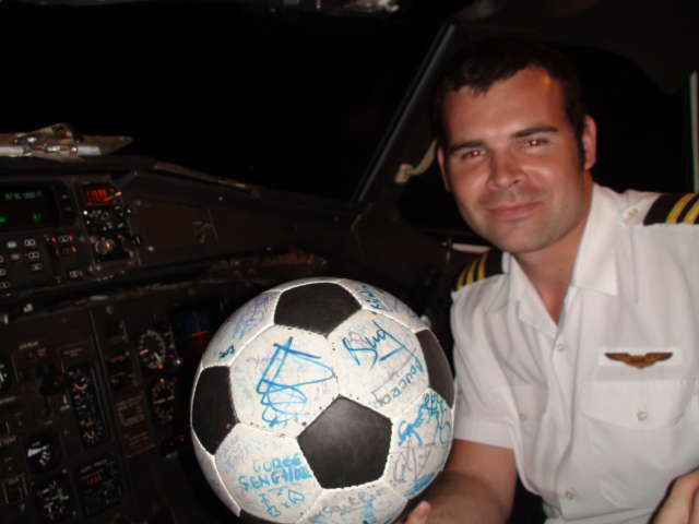 One of the pilots with The Ball