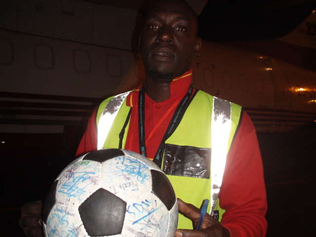 The only person to sign The Ball in Mauritania