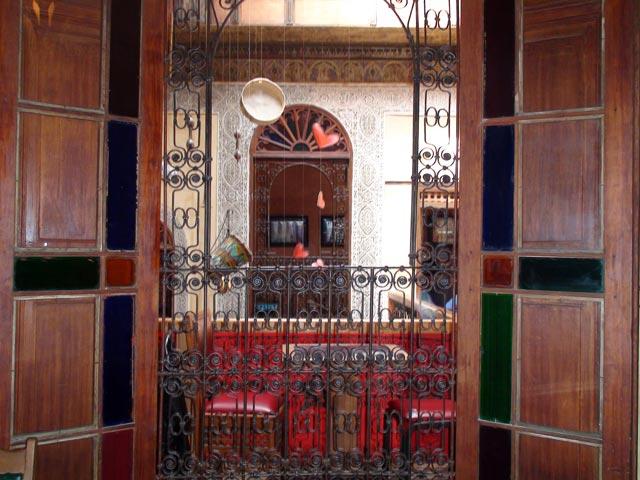 A view through a door at Café Clock