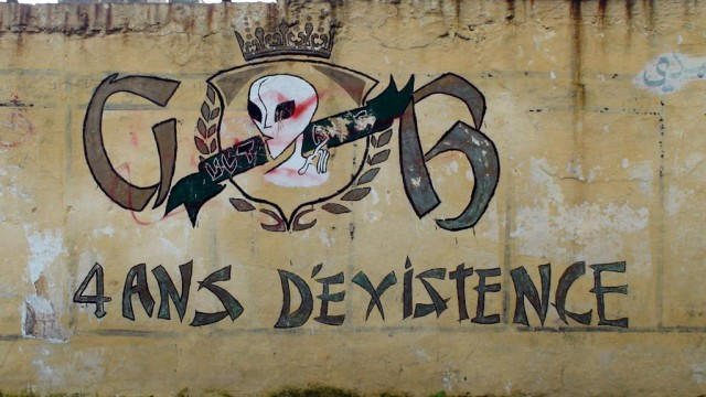 An ultras mural in Casablanca