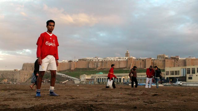 Beach football pitch in Rabat
