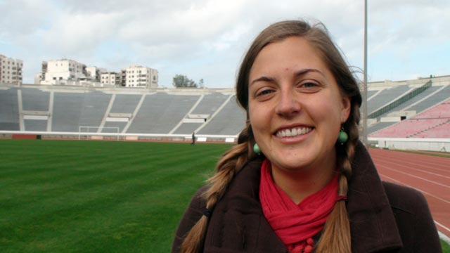 Nicole Matuska at Wydad stadium
