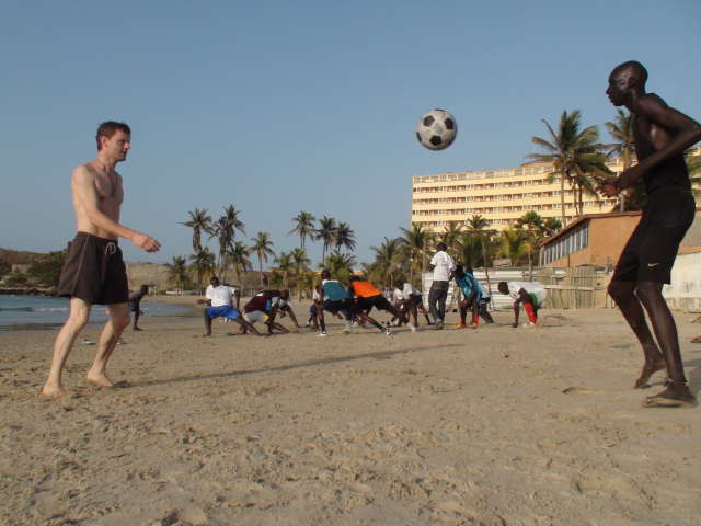 Keepie-uppie on Ngor beach