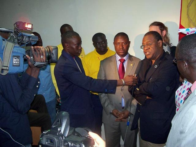 The Senegalese Minister of Sport interviewed