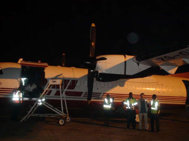 Plane-side in Dakar airport