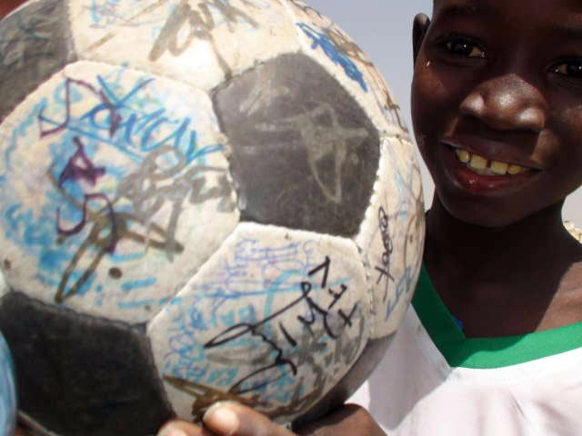 A Special Olympics athlete with The Ball