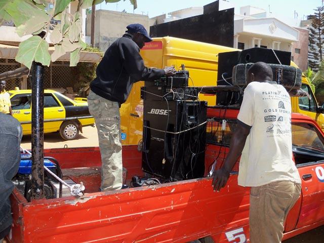 The soundsystem pickup truck