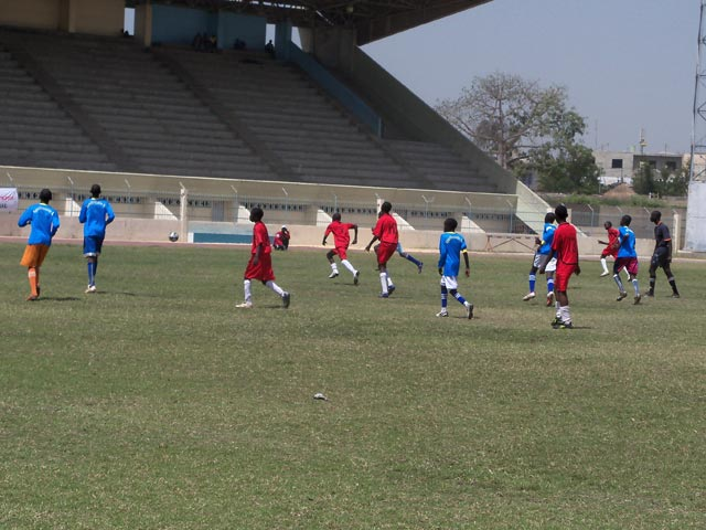 Unified Football played in the stadium