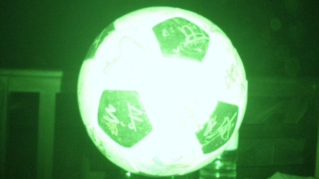 The Ball glows!