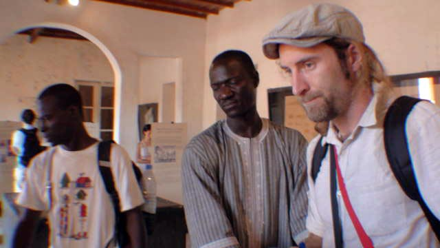 Francois, Mademba and Andrew deep in thought