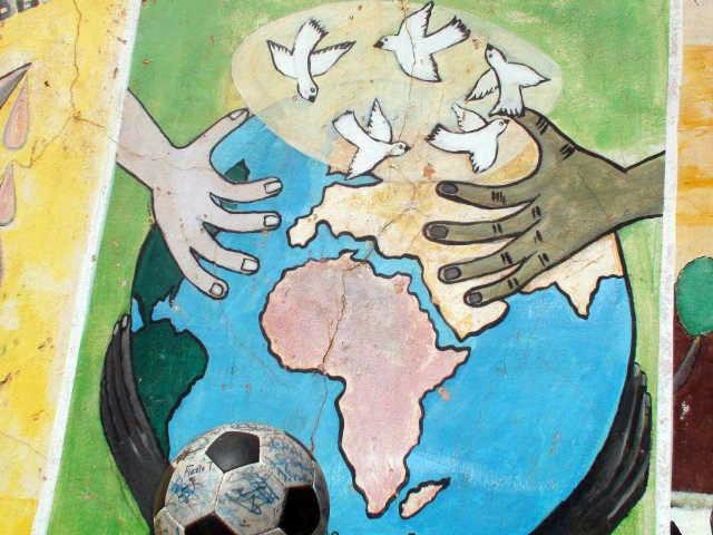 Peace painting on Ile de Gorée