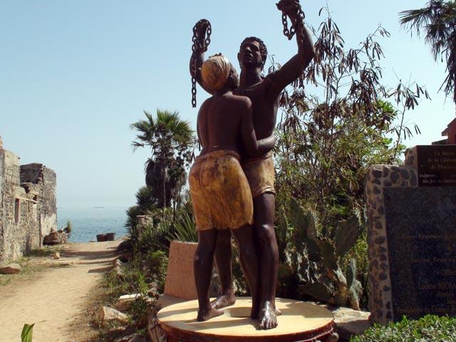A memorial statue on Ile de Gorée