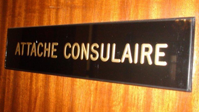 At the consulate