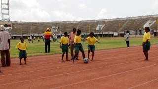 Special Olympics girls team kicks The Ball about