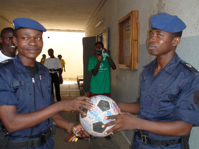 Ball protection Benin style