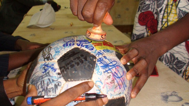 The Ball gets stamped by the Mayor of Ouidah