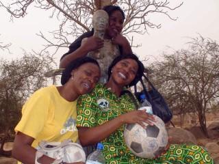 The girls from Special Olympics Burkina Faso