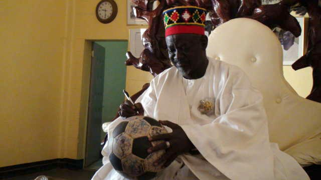 The Mogho Naaba signs The Ball